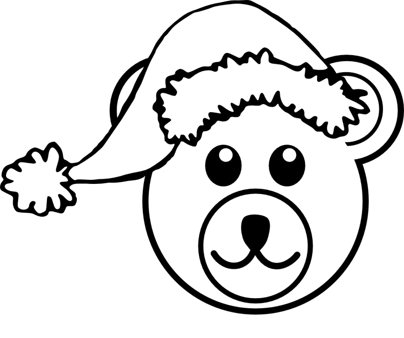 desenho natalino urso