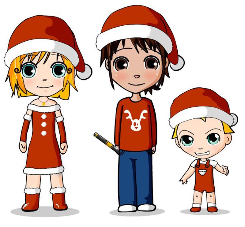 desenho natalino familia