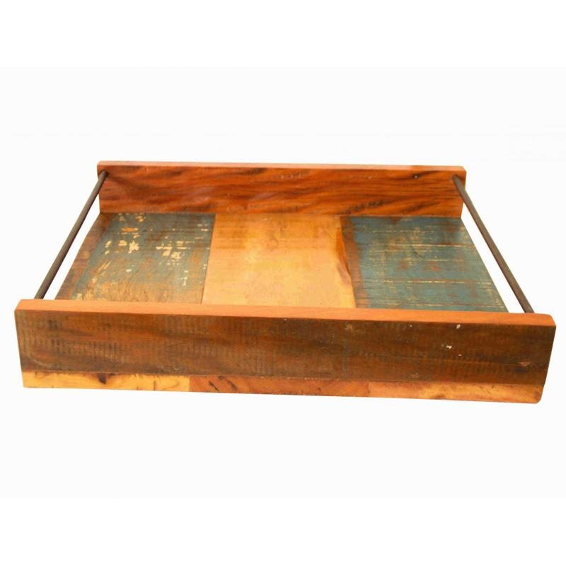 Artesanato com madeira de demolição bandeja