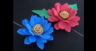 flor em EVA colorida
