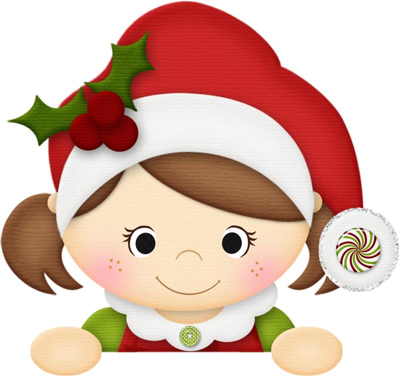 desenho natalino menina