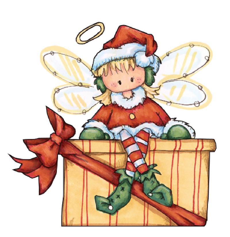 desenho natalino fada