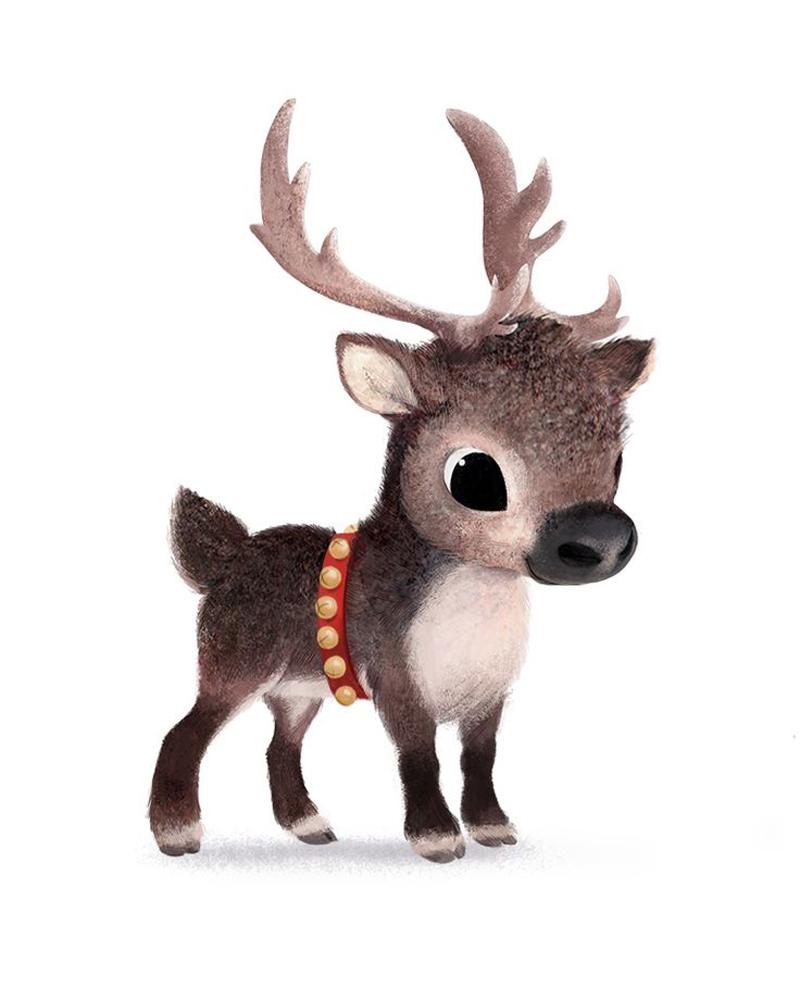 desenho natalino renas