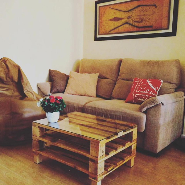decor com pallets mesa