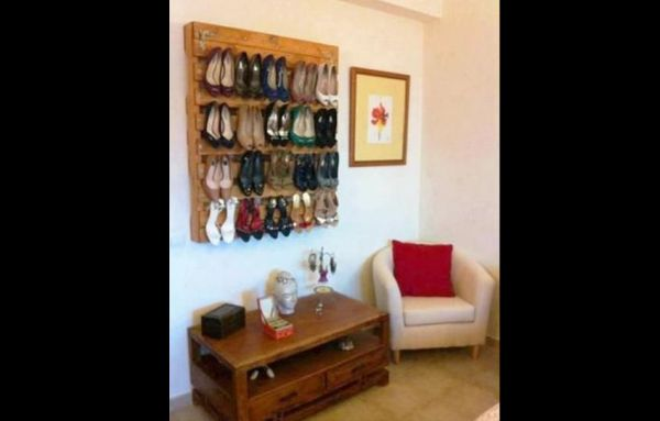 decor com pallets sapateira