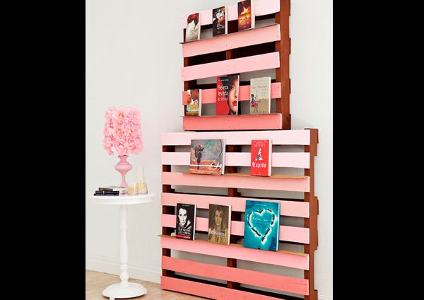 decor com pallets estante