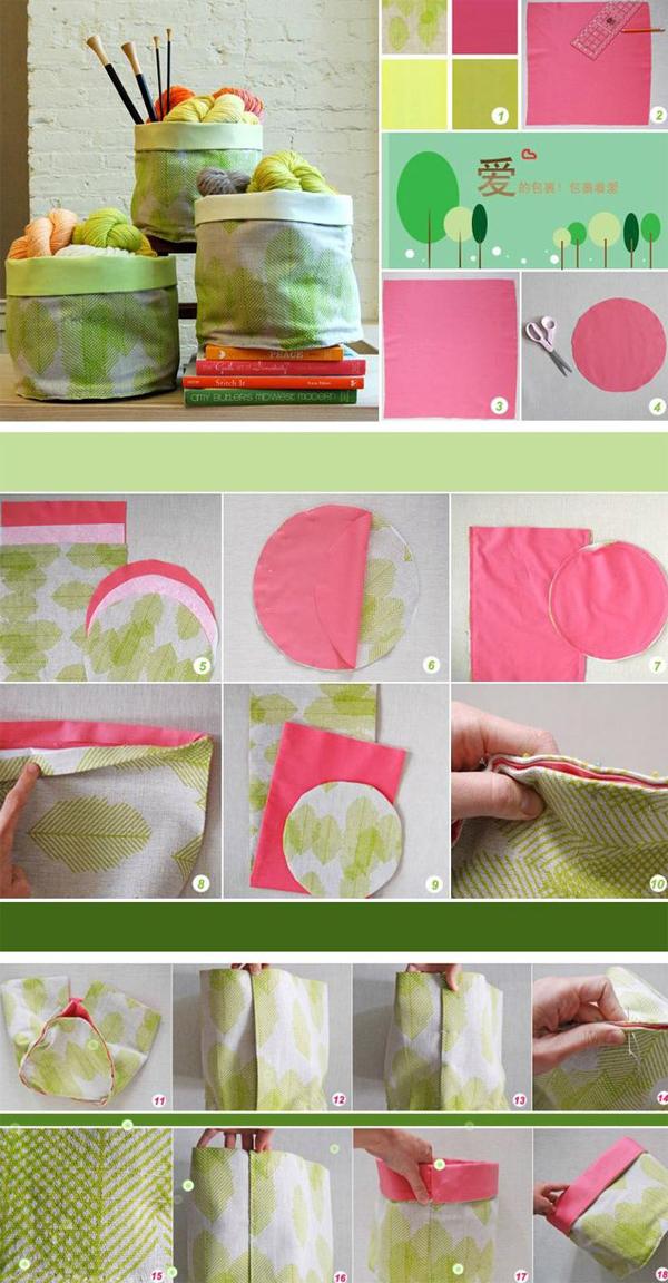 artesanato em tecido organizador