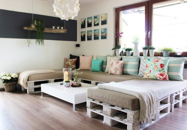decor com pallets sofá