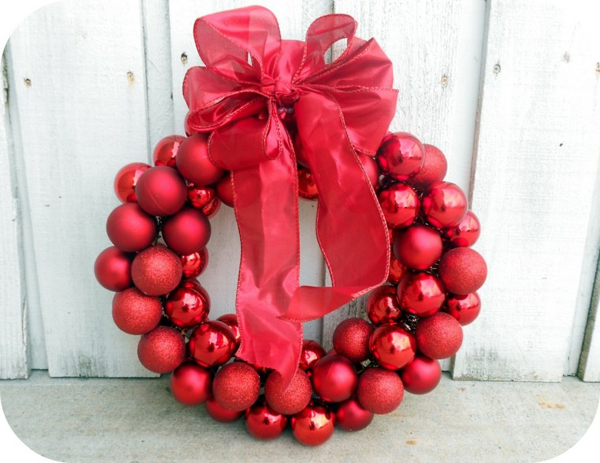 guirlanda de Natal vermelha