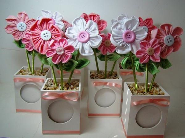 artesanato em tecido flor
