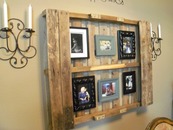 decor com pallets quadros