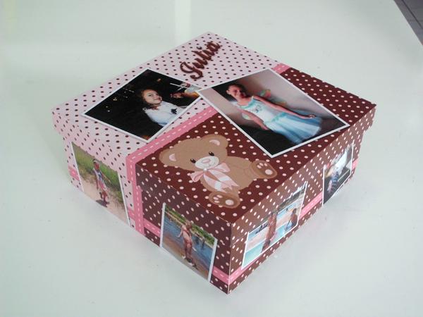 caixa decorada de mdf com papel