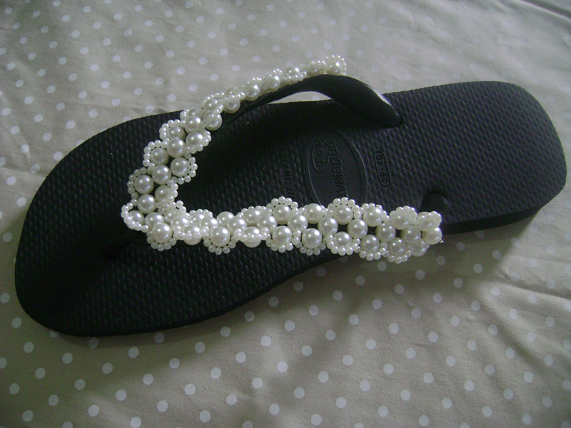tutorial chinelo decorado