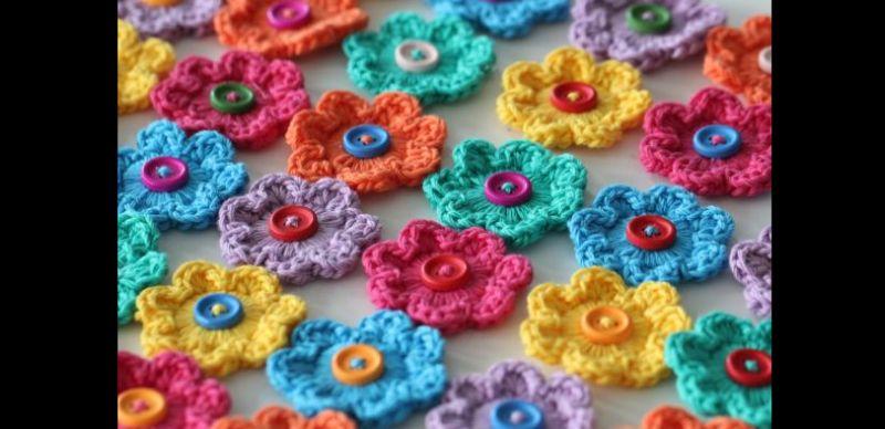 Como Fazer Flor De Crochê Simples Passo A Passo