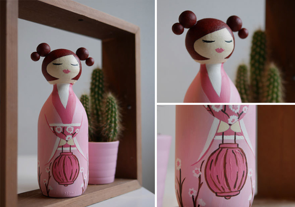 decoração com reciclagem boneca