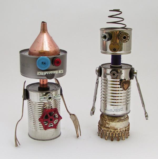 robo de lata para decoração