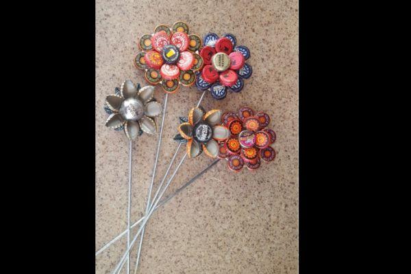decoração com reciclagem florzinha