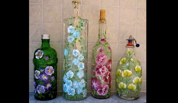 decoração com reciclagem  com garrafas