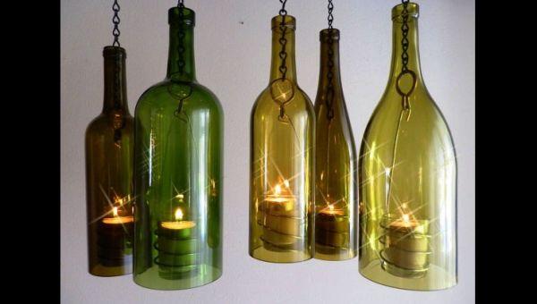 decoração com reciclagem  luminaria
