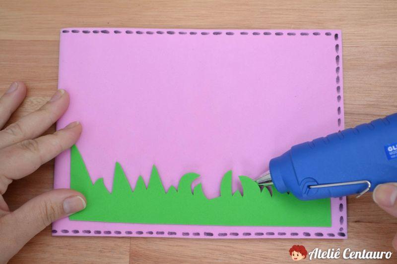 como fazer capa caderno eva