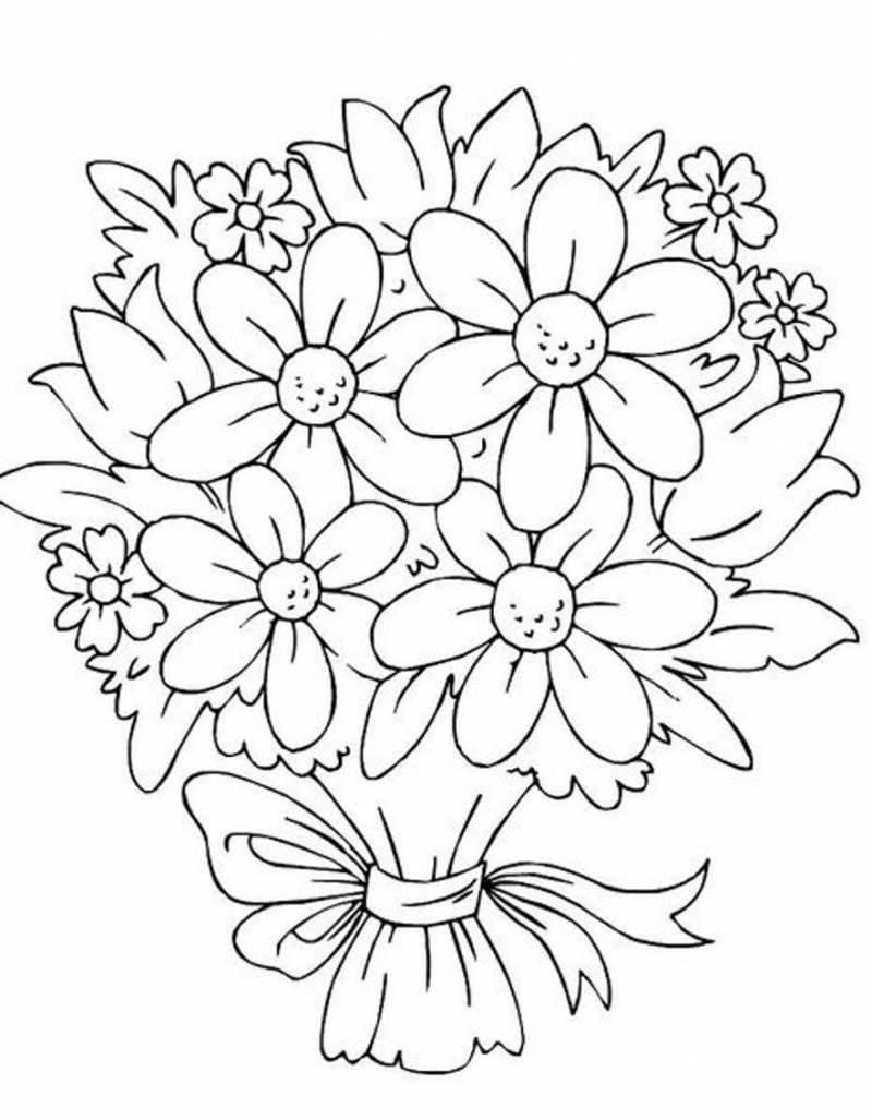 Desenhos De Flores 30 Imagens Para Imprimir E Colorir