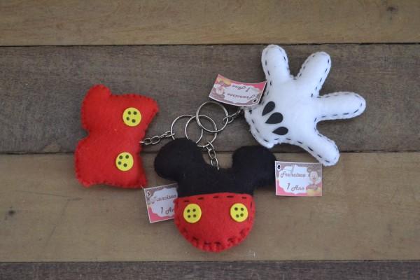 chaveiro de feltro mickey mouse