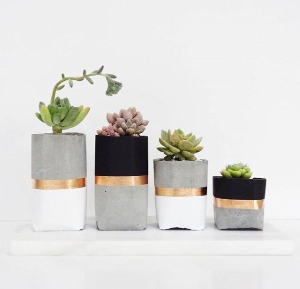 como fazer vaso de cimento