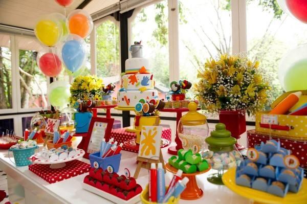 festa infantil temas criativos pintando o 7