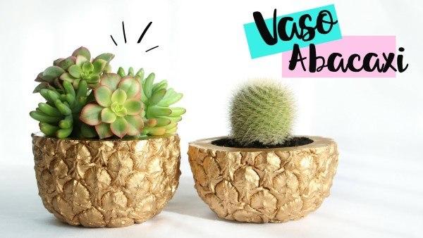 vaso de cimento abacaxi
