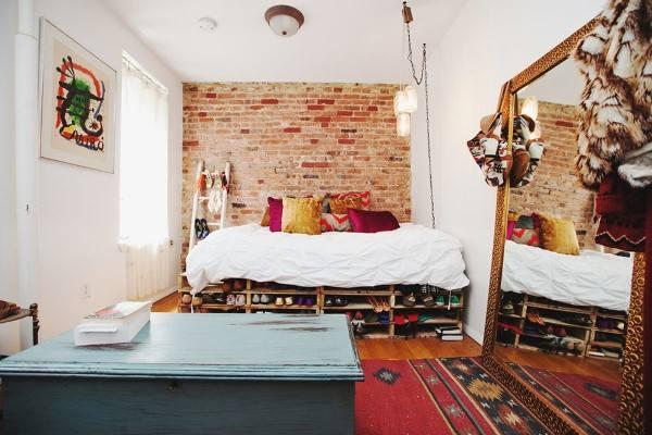 cama de paletes alta