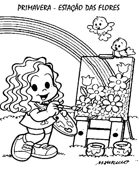 desenhos para colorir primavera educação infantil