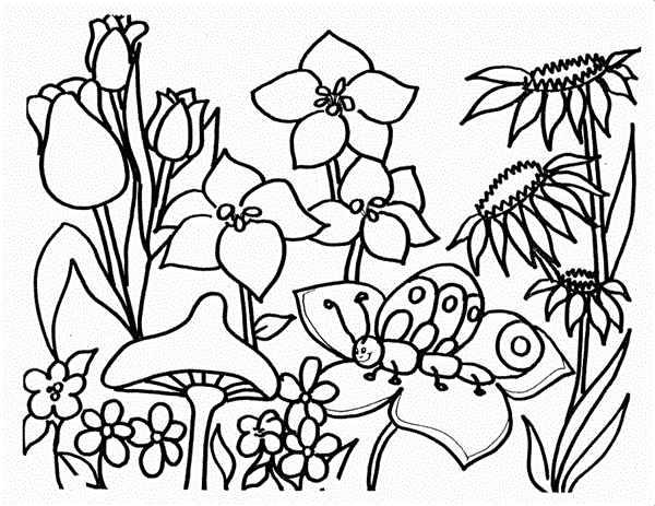 desenho de primavera facil