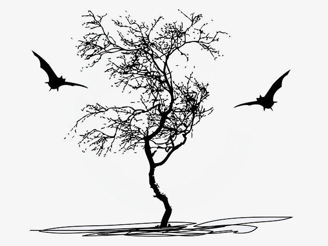 desenhos de árvores secas