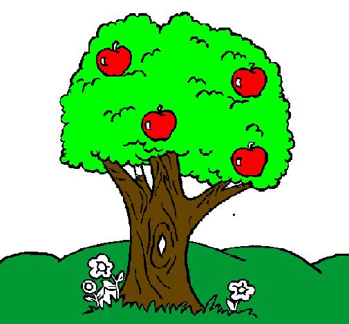 desenhos de árvores para imprimir e colorir