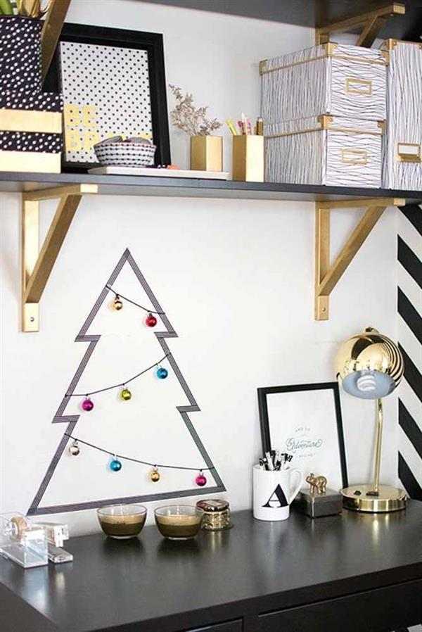 arvore de natal na parede