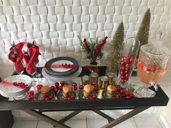 decoração de natal para mesa de jantar