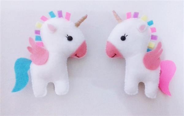 chaveiro de unicornio de feltro