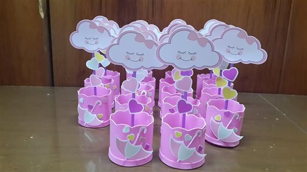 centro de mesa chuva de amor