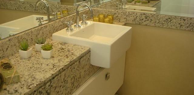Banheiros decorados com granito -> Como Colocar Pia De Granito No Banheiro