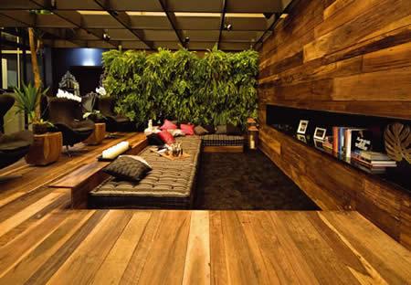 Paredes decoradas com madeira - Impermeabilizante de paredes interiores ...