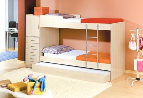 Decora o de quartos com beliche for Cama 3 4 medidas