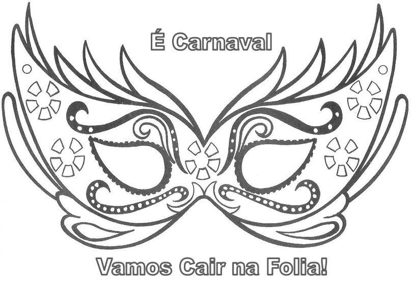 Luxo Desenhos De Mascaras De Carnaval Para Colorir E Imprimir