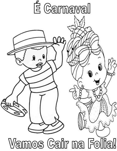 Desenhos De Carnaval Para Imprimir E Colorir