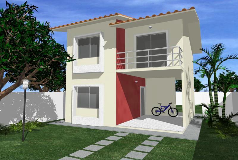Projetos de sobrados com dois quartos for Fachadas para apartamentos pequenos