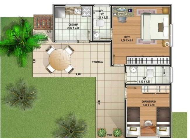 Projetos de casas pequenas e modernas gr tis for Casa moderna 90m2