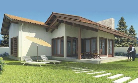 Fachadas de casas com varanda e garagem fotos for Modelos fachadas para frente casa