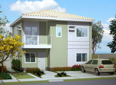 Fachadas de casas com varanda e garagem fotos - Pintar fachadas de casas ...