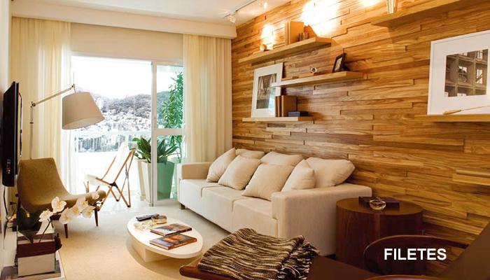 Decora o em paredes de madeira for Paredes interiores revestidas