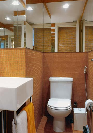 Lavabos pequenos e modernos decorados for Fotos lavabos