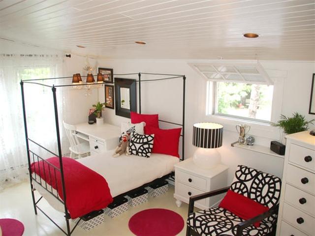 Decora o em preto e vermelho fotos - How to clean and organize a bedroom ...
